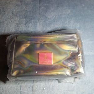 Jeffree Star black holographic makeup bag